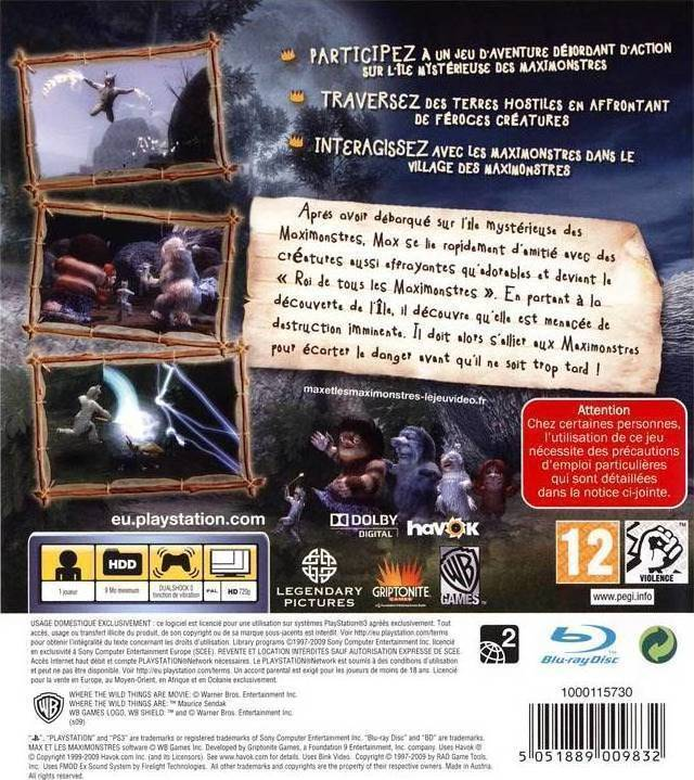 Where The Wild Things Are Walkthrough Part 1 (PS3, X360 ...