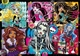 Glitter: Monster High, Freakly Flaws 200pcs Clementoni
