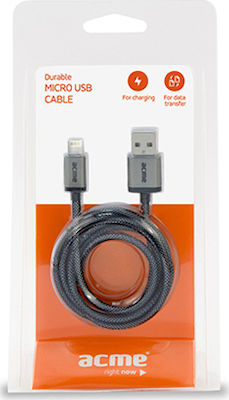 Acme Braided USB to Lightning Cable Black 1m (CB03)