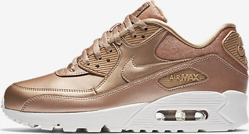 nike air max 90 premium trainers in metallic cashmere