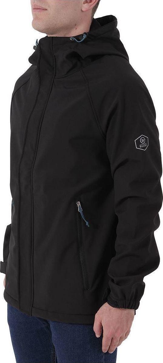 Basehit Long Hooded Bonded Jacket Black - Skroutz.gr 85dbb1cace3