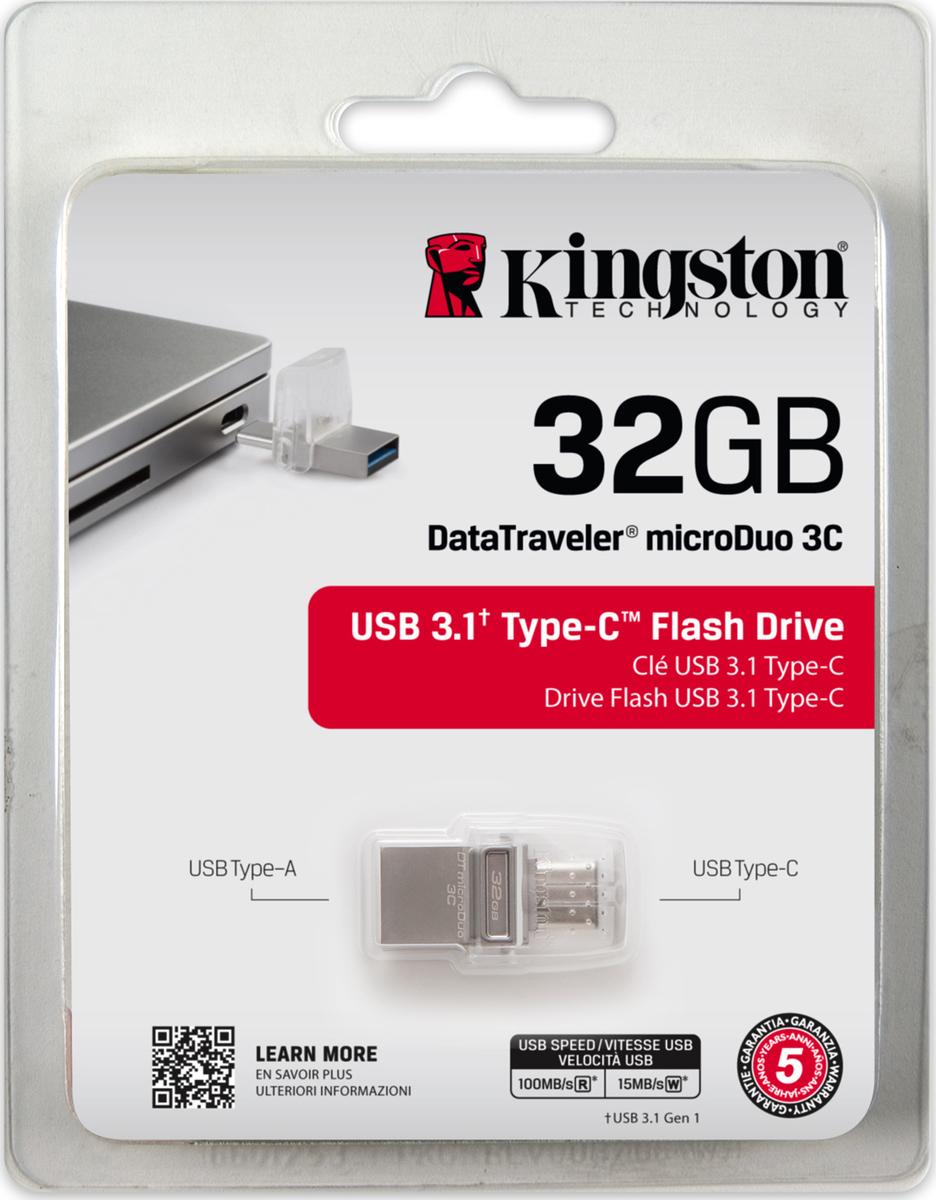 Kingston Datatraveler Microduo 3c 32gb Flashdisk Usb 30 Micro Otg