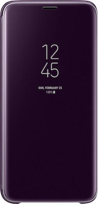Samsung Clear View Standing Cover Μωβ (Galaxy S9)