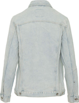 Superdry Denim Long Line Acid Light Wash