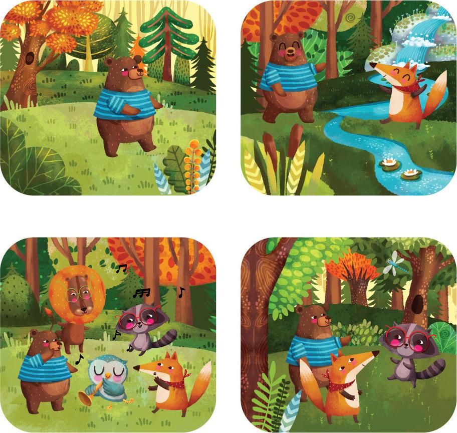 Svoora Δίσκος Εικόνων Μουσικοί του Δάσους