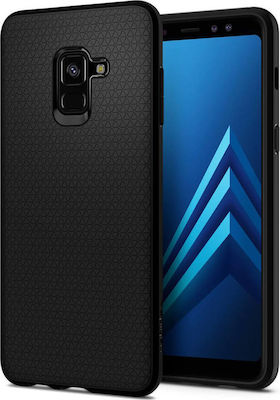 Spigen Liquid Air Back Cover Σιλικόνης Matte Black (Galaxy A8 2018)