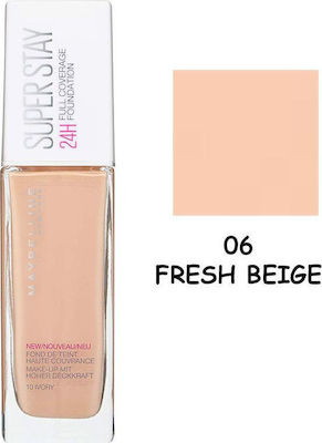 Maybelline Super Stay 24H Full Coverage Foundation 06 Fresh Beige 30ml