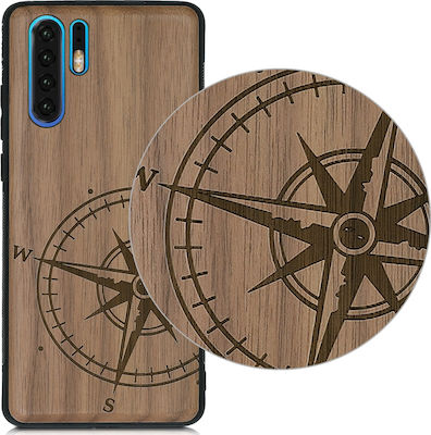 KW Ξύλινη Back Cover Compass Καφέ (Huawei P30 Pro)