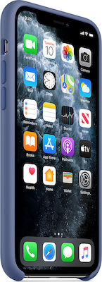 Apple Silicone Case Linen Blue (iPhone 11 Pro Max)