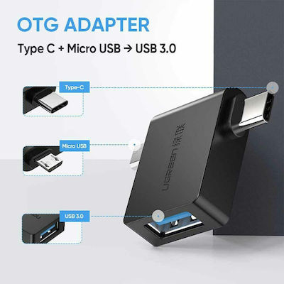 Ugreen USB-C / micro USB male - USB-A female (30453)
