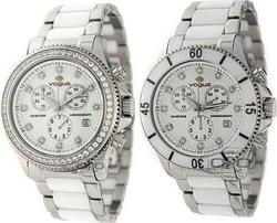 Vogue White Ceramic and Silver Stainless Steel 857021.1