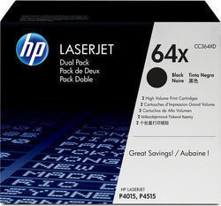 HP 64X Black High Yield 2-pack Toner (CC364XD)