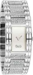 Dolce & Gabbana Womens Silver Interlace With Silver Stainless Steel Bracelet And Crystals DW0331