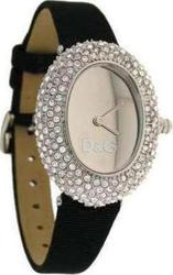 Dolce & Gabbana Music Black Leather Strap Crystal Ladies DW0375