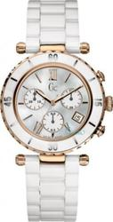Guess Womens White Mother Of Pearl Diver Chic Series With Chronograph And White Ceramic Bracelet 47504M1