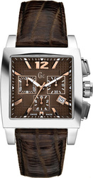 Guess Collection Chronograph Brown Leather Strap 35005G3