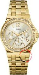 Guess White Dial Gold Stainless Steel Bracelet - W18538L1