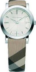 Burberry Nova Check Leather Strap Ladies BU1390