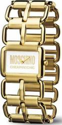 Moschino Ladies Let's Link White Dial Gold Steel Bracelet MW0036