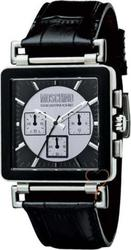 Moschino Let's Ask Black Leather Strap MW0064