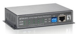 Level One 4-Port High Power PoE + 1 FE Switch