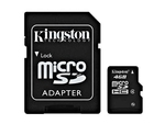 Kingston microSDHC 4GB Class 4 with Adapter