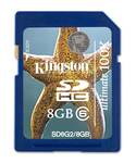 Kingston SDHC 8GB Class 6 Ultimate 100x