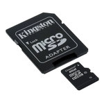 Kingston microSDHC 8GB Class 10 with Adapter