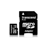Transcend microSDHC class 4 card 8GB with Adapter