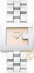 Gucci Ladies Pink Dial Stainless Steel Bracelet YA036506