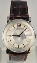 Gucci Men's G-Dial 101G Leather Watch YA101404