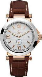Guess Collection White Dial Brown Leather Strap - X61002G1