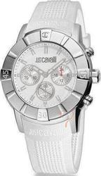 Just Cavalli Crystal Chronograph White Rubber Strap UNISEX R7271661045