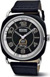 Moschino Racing Vibe Black Case & White Leather Strap - MW0242