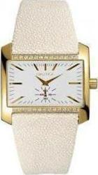 Nautica Beige Leather Strap Gold Case A17524