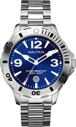 Nautica Blue Dial-Silver Stainless Steel Bracelet A14545G