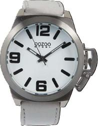 Oozoo STEEL XL White Leather Strap OS114