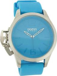 Oozoo Steel XL Light Blue Rubber Strap OS268
