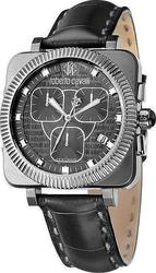 Roberto Cavalli Bohemienne Chronograph Black Leather Strap R7271666025