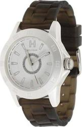 Tommy Hilfiger Smoky Rubber Strap White Dial 1781101