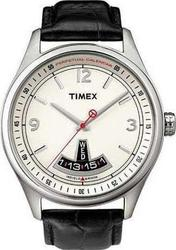 Timex Perpetual Calendar Black Leather Strap T2N219