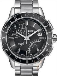 Timex Intelligent Steel Fly-Back Chrono Watch T2N498