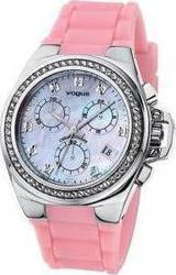 Vogue Pink Rubber Chrono 156041.8