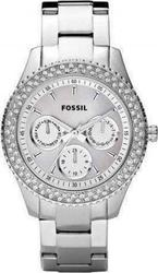 Fossil Crystal Lady Total Silver Stainless Steel Bracelet - ES2860