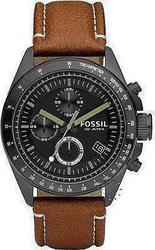 Fossil Mens Decker Desert Sand Chronograph Brown Leather Strap CH2687