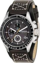 Fossil Chrono Black Dial and Leather Strap - CH2599