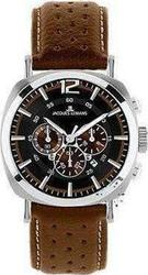 Jacques Lemans Lugano Brown Dial & Brown Leather Strap 1-1645C