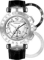 Versace V-Concept Black Leather Strap 23C99D002S009