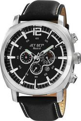 Jet Set Madrid Chronograph Black Leather Strap J32681237