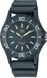 Q&Q Sport All Black Plastic Strap - VP02-003t